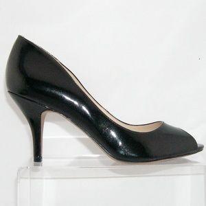 16381a679d Nine West Shoes | Orissa Black Peep Toe Man Made Heel 6m | Poshmark